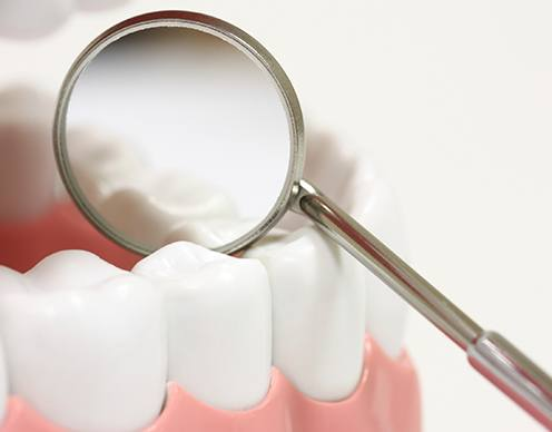 Closeup of healthy smile after dental sealants