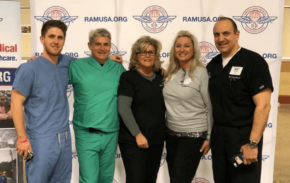 The Randolph Dental Care team at a community event