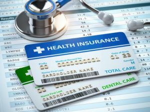 cards and charts for medical and dental insurance